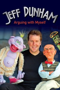 "Poster for the movie ""Jeff Dunham: Arguing with Myself"""