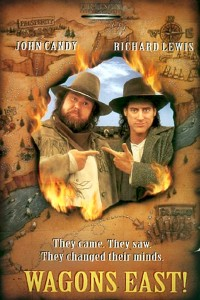 "Poster for the movie ""Wagons East!"""