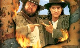 """Poster for the movie """"Wagons East!"""""""