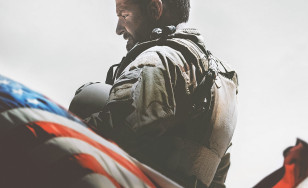 "Poster for the movie ""American Sniper"""
