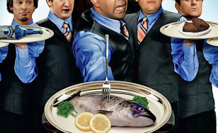"Poster for the movie ""The Slammin' Salmon"""