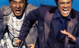 "Poster for the movie ""Skiptrace"""