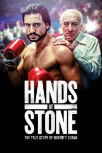 "Poster for the movie ""Hands of Stone"""