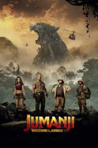 "Poster for the movie ""Jumanji: Welcome to the Jungle"""