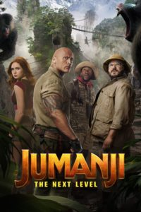 "Poster for the movie ""Jumanji: The Next Level"""