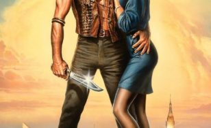 "Poster for the movie ""Crocodile Dundee II"""