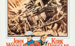 "Poster for the movie ""The War Wagon"""