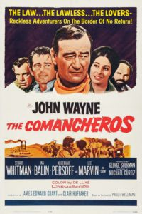 "Poster for the movie ""The Comancheros"""