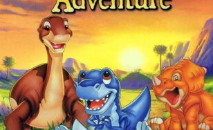 """Poster for the movie """"The Land Before Time: The Great Valley Adventure"""""""