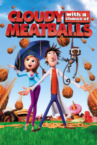 "Poster for the movie ""Cloudy with a Chance of Meatballs"""