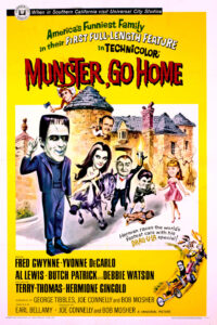 """Poster for the movie """"Munster, Go Home!"""""""